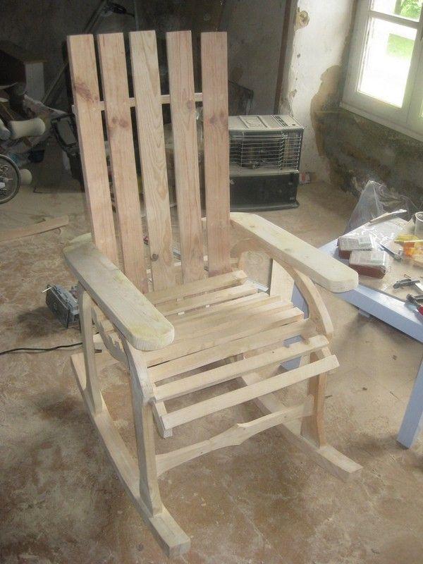 Gazebo En Bois Plan Gratuit : Pallet Rocking Chair